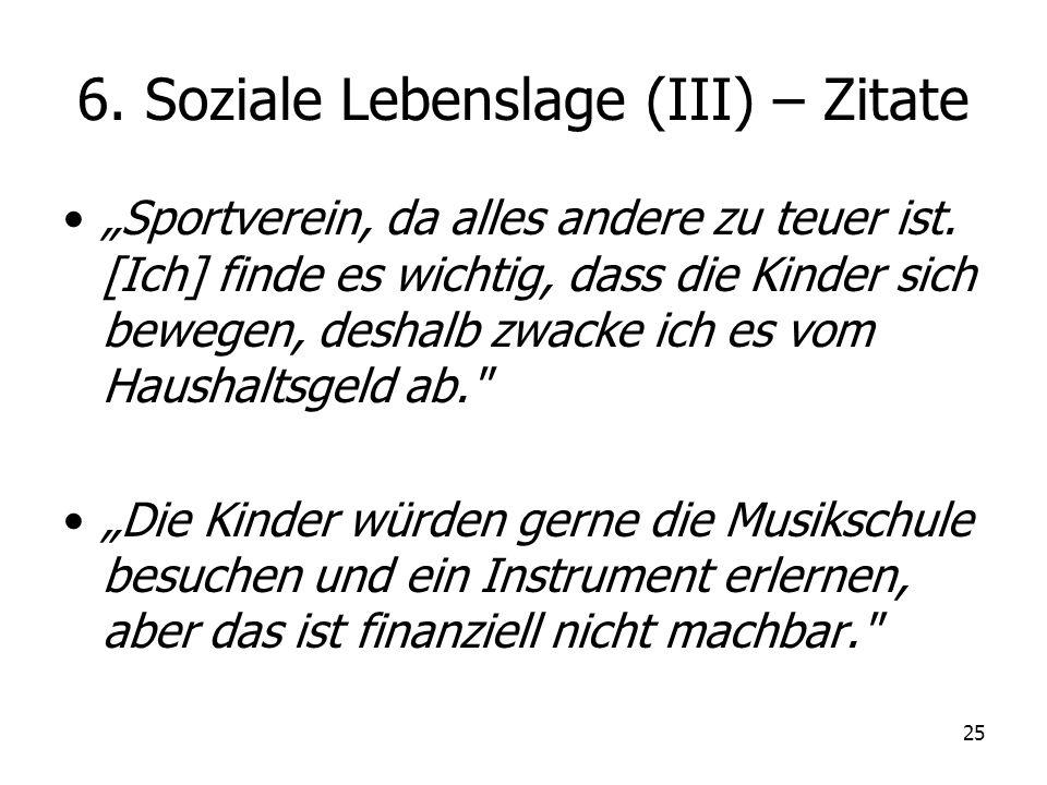 6. Soziale Lebenslage (III) – Zitate