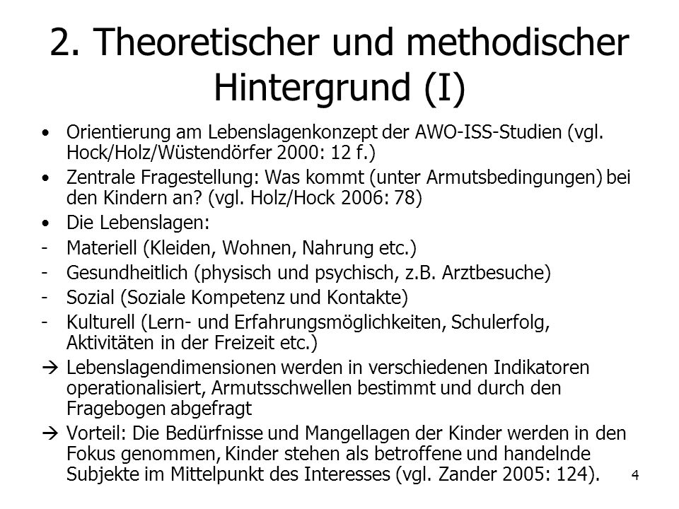 2. Theoretischer und methodischer Hintergrund (I)