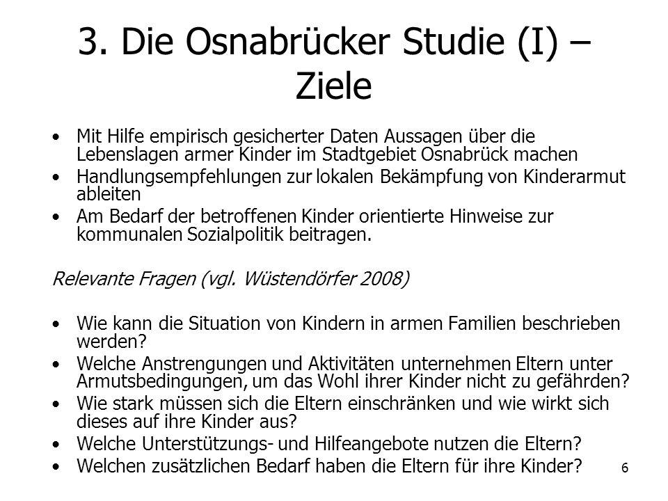 3. Die Osnabrücker Studie (I) – Ziele