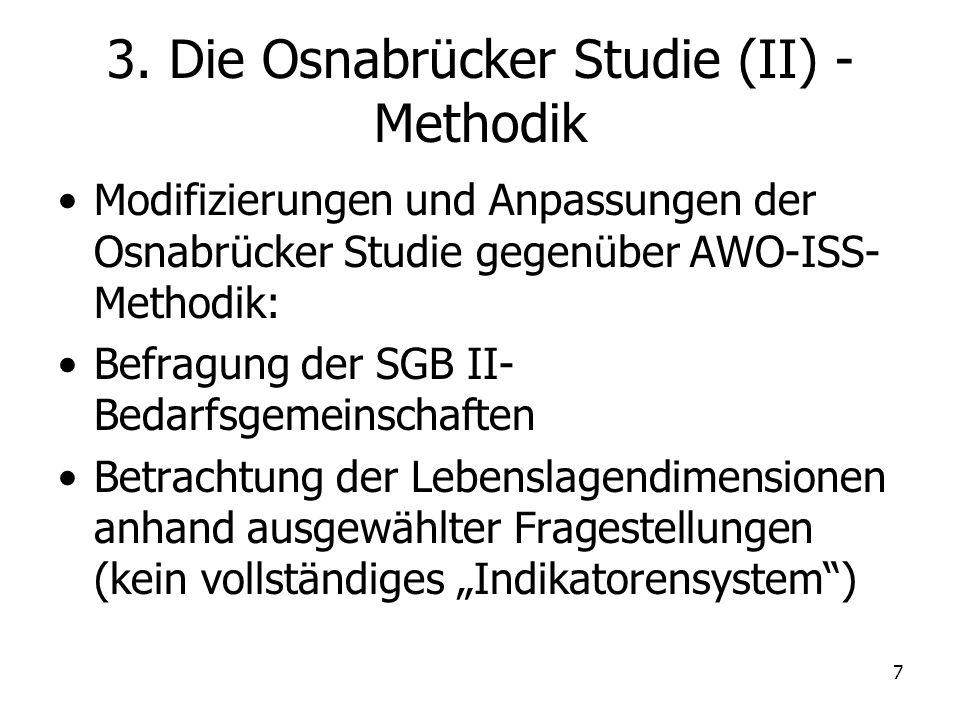 3. Die Osnabrücker Studie (II) - Methodik