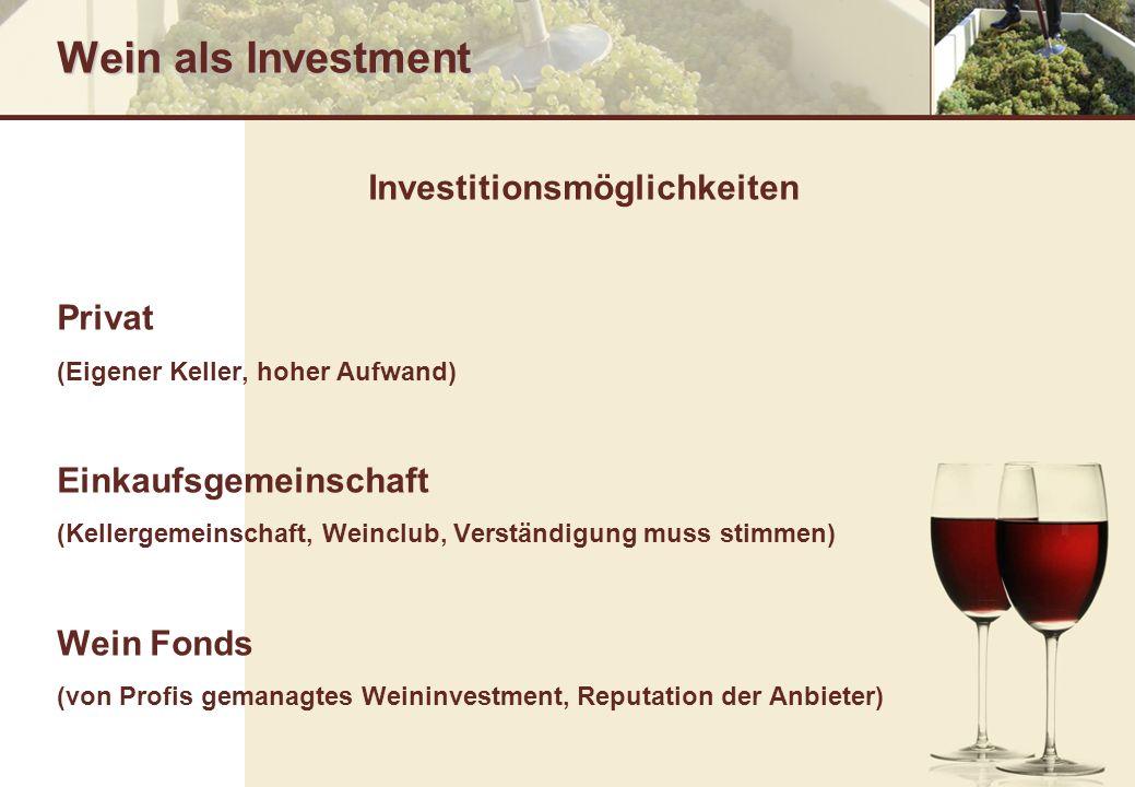Investitionsmöglichkeiten
