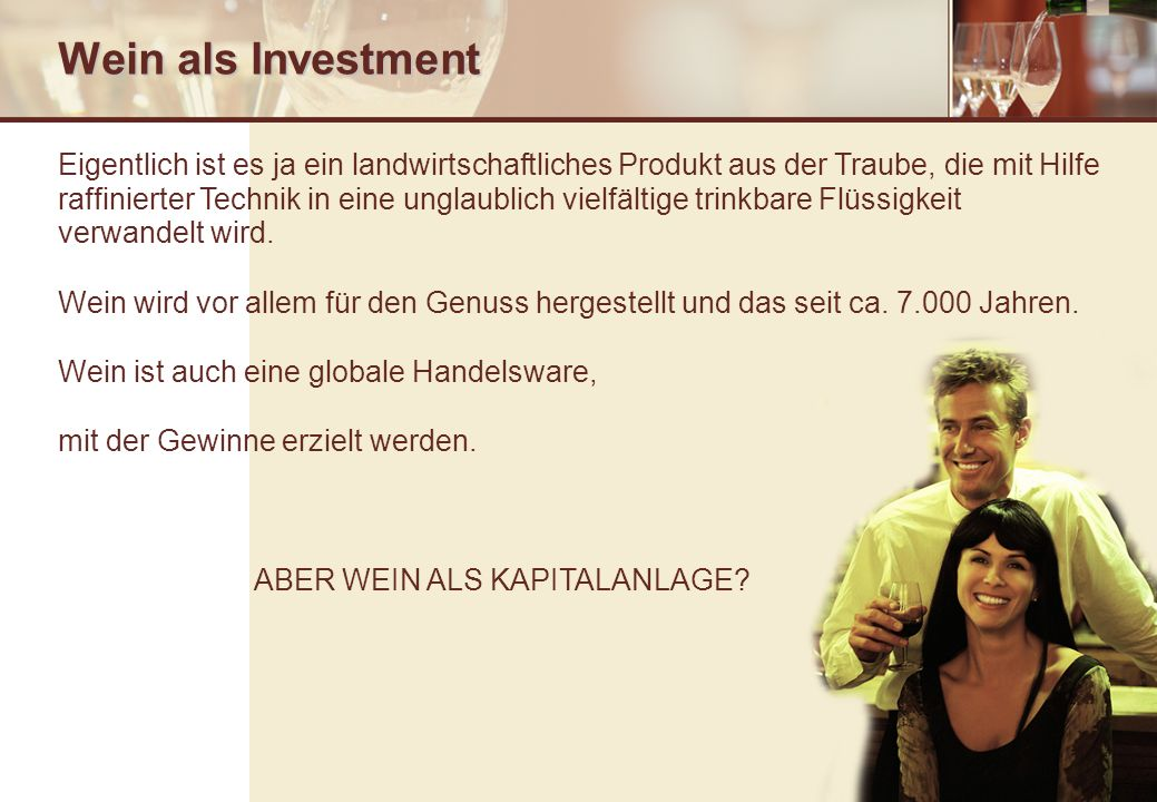 Wein als Investment