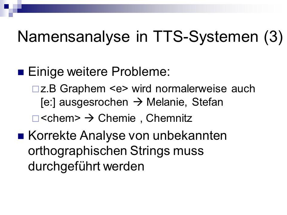 Namensanalyse in TTS-Systemen (3)