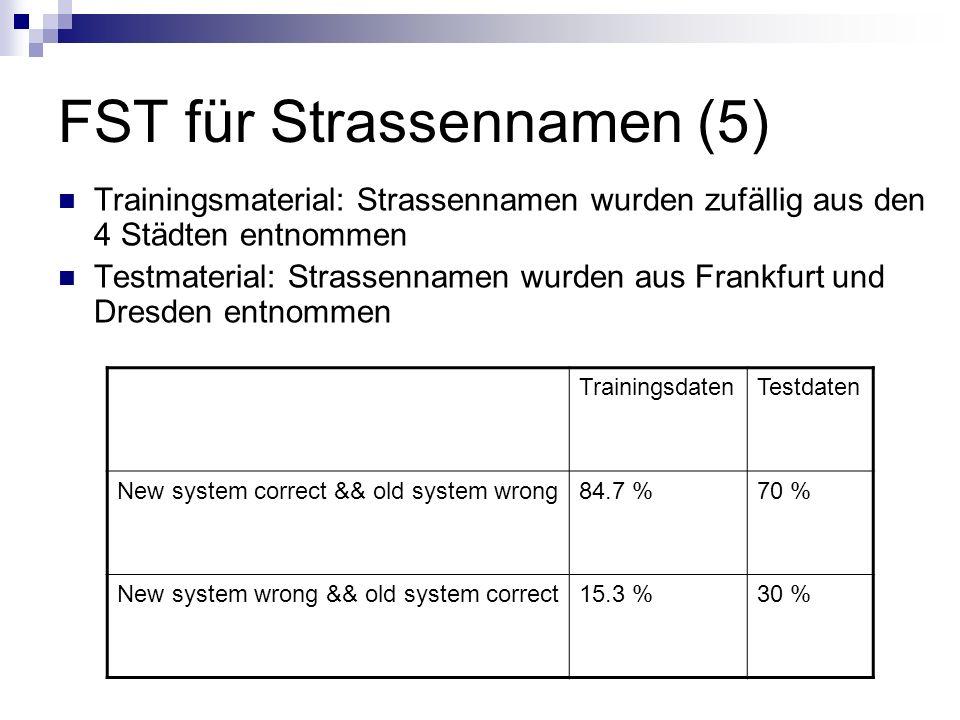 FST für Strassennamen (5)