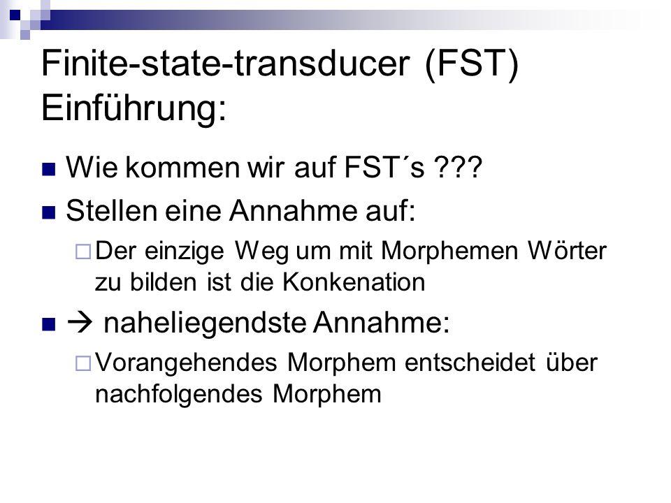 Finite-state-transducer (FST) Einführung: