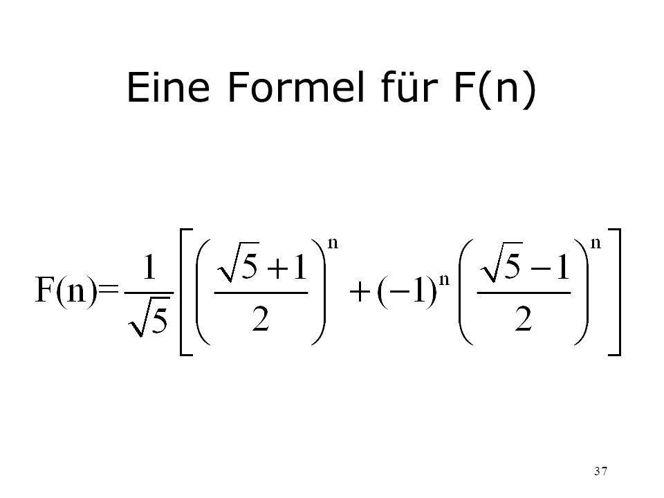 Eine Formel für F(n)