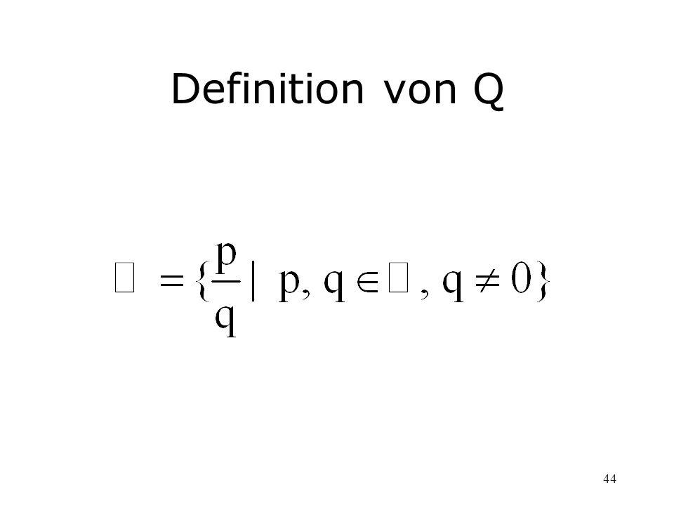 Definition von Q