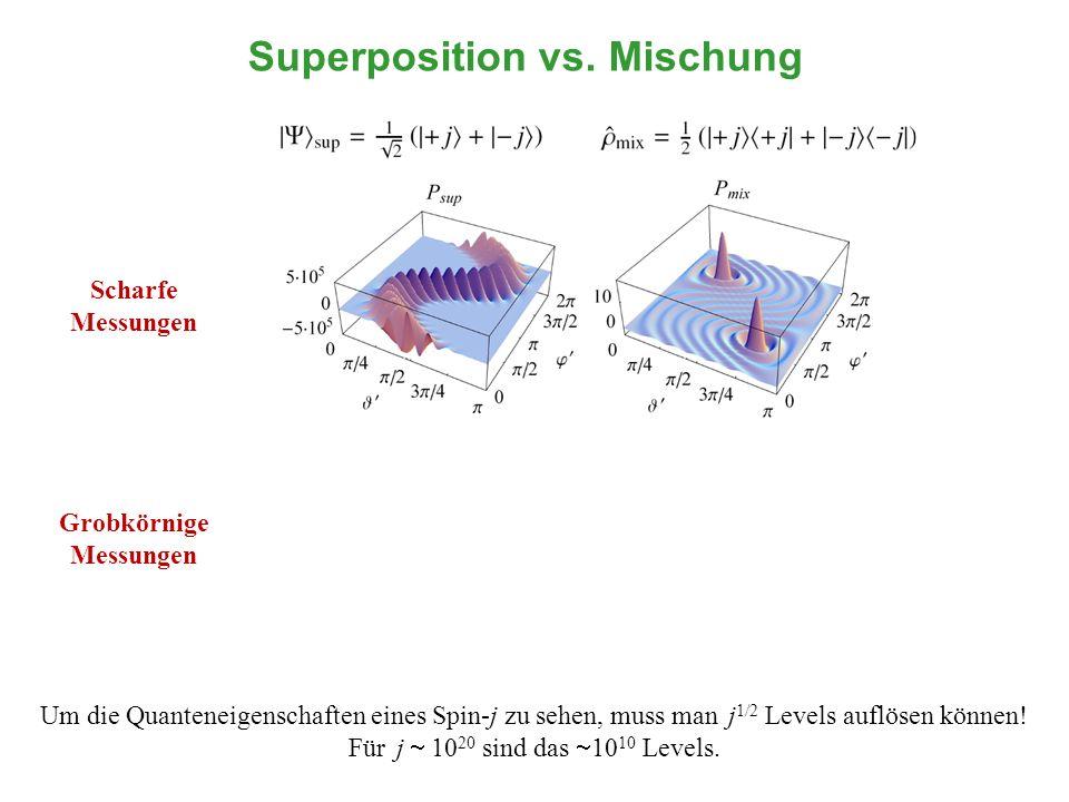 Superposition vs. Mischung Grobkörnige Messungen