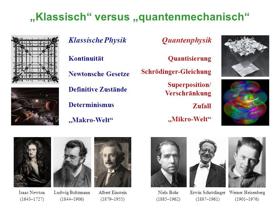 """""""Klassisch versus """"quantenmechanisch"""