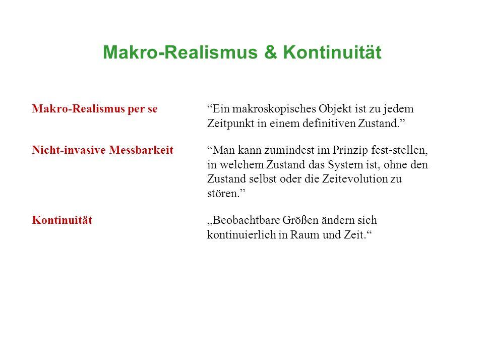 Makro-Realismus & Kontinuität