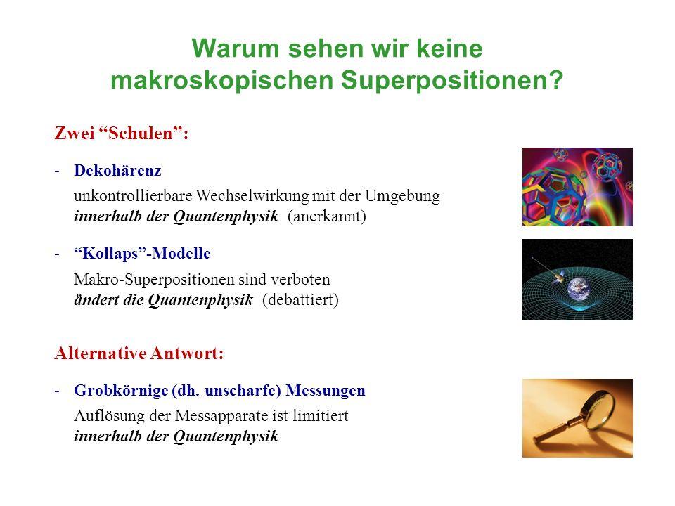 Warum sehen wir keine makroskopischen Superpositionen