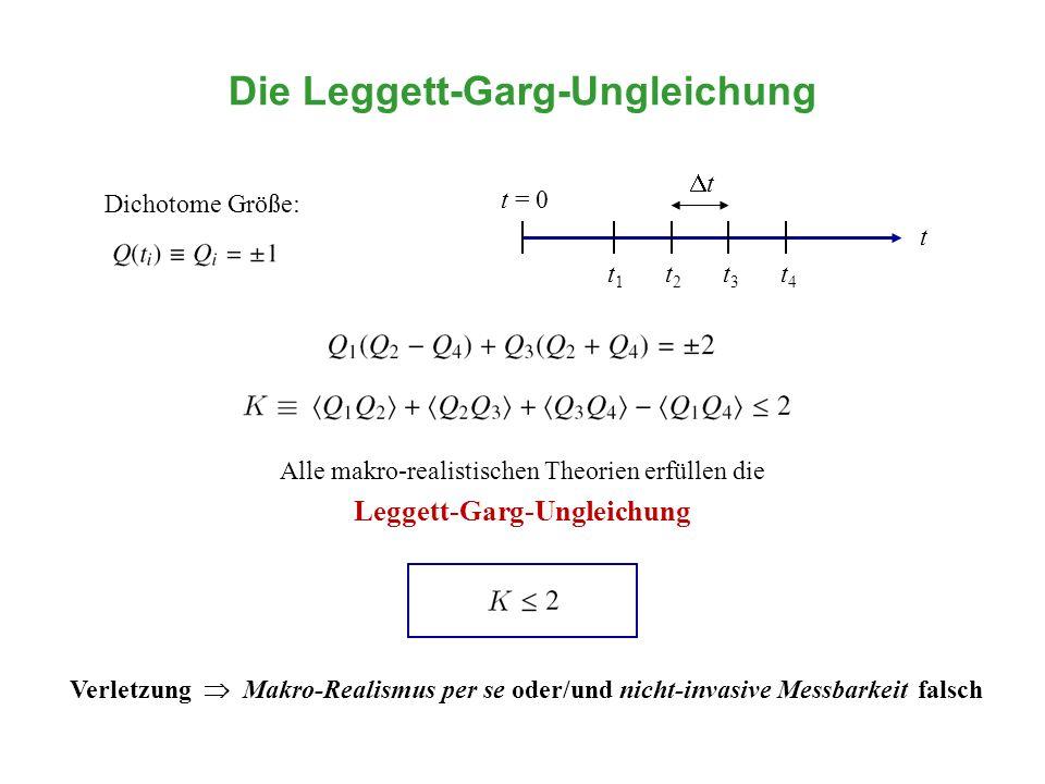 Die Leggett-Garg-Ungleichung