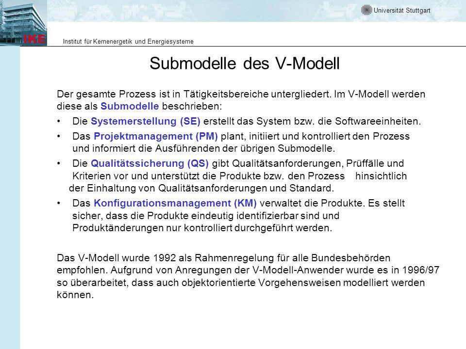 Submodelle des V-Modell
