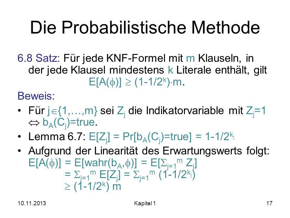 Die Probabilistische Methode