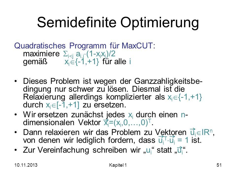 Semidefinite Optimierung