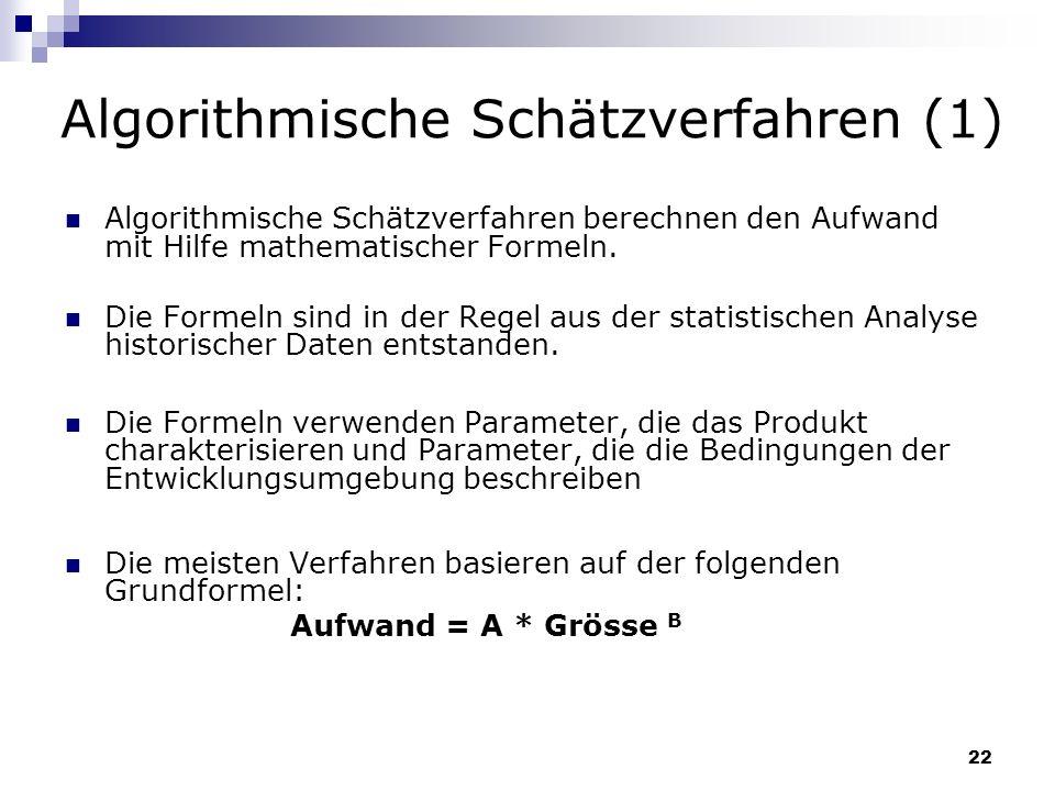 Algorithmische Schätzverfahren (1)