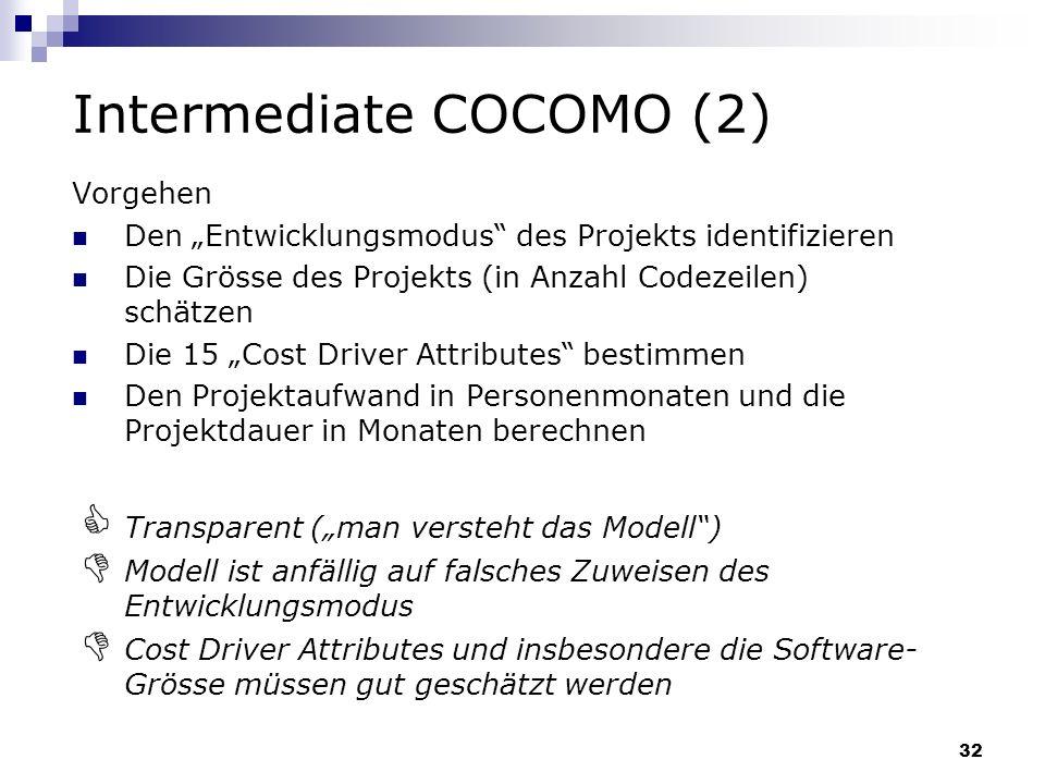 Intermediate COCOMO (2)