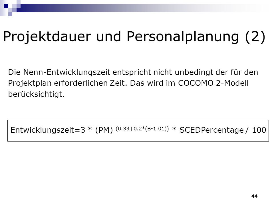 Projektdauer und Personalplanung (2)