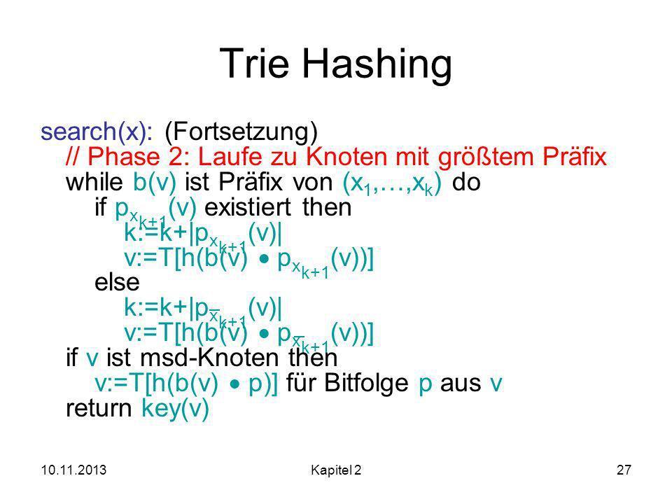 Trie Hashing