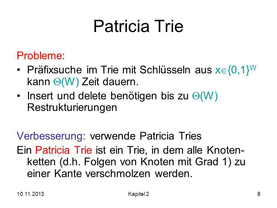 Patricia Trie Probleme: