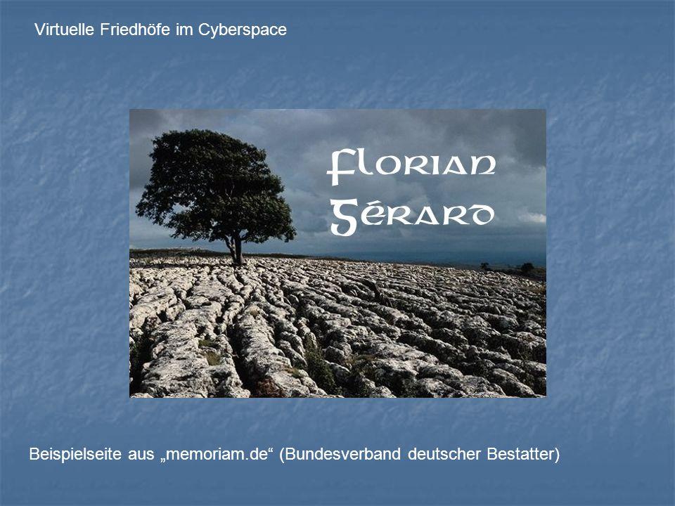 Virtuelle Friedhöfe im Cyberspace