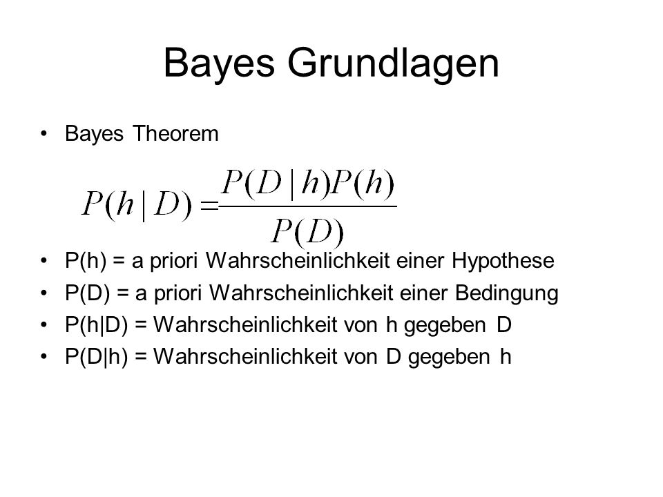 Bayes Grundlagen Bayes Theorem