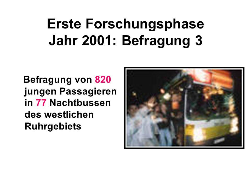 Erste Forschungsphase Jahr 2001: Befragung 3