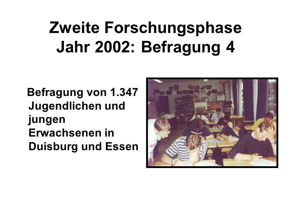 Zweite Forschungsphase Jahr 2002: Befragung 4