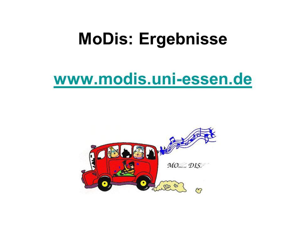 MoDis: Ergebnisse www.modis.uni-essen.de