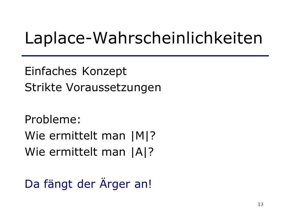 Laplace-Wahrscheinlichkeiten