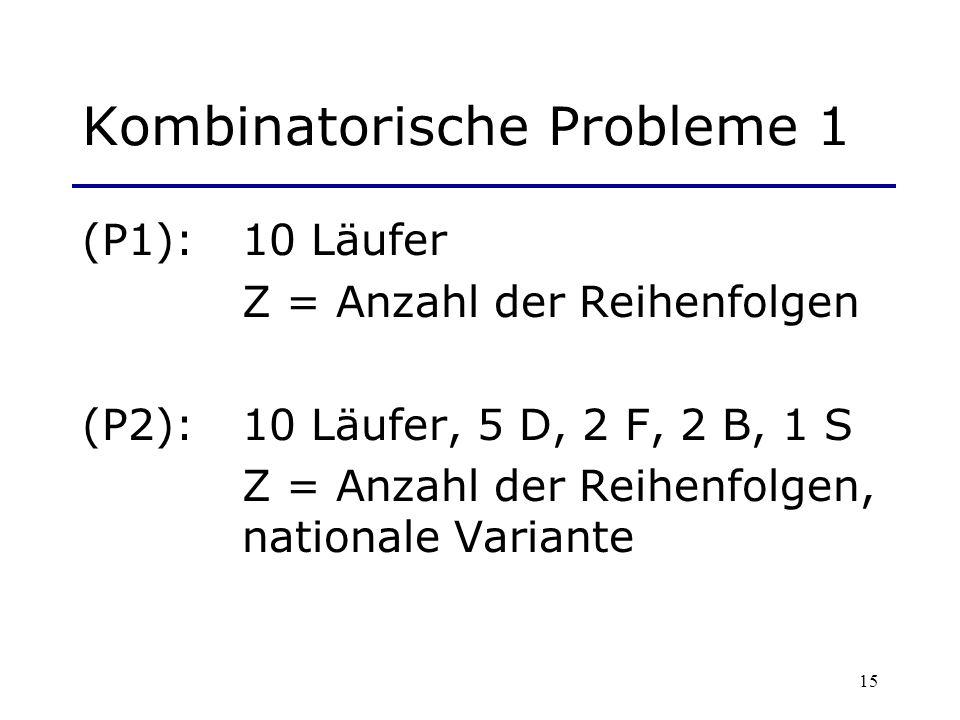 Kombinatorische Probleme 1