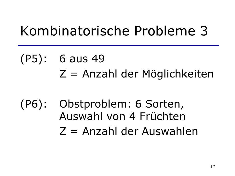 Kombinatorische Probleme 3