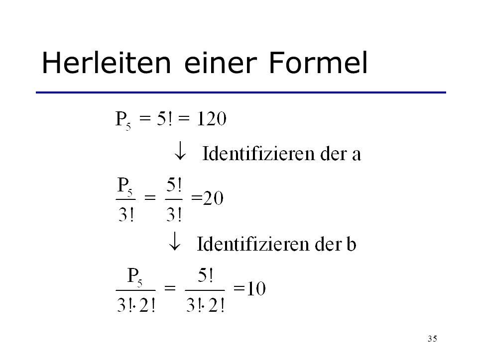 Herleiten einer Formel