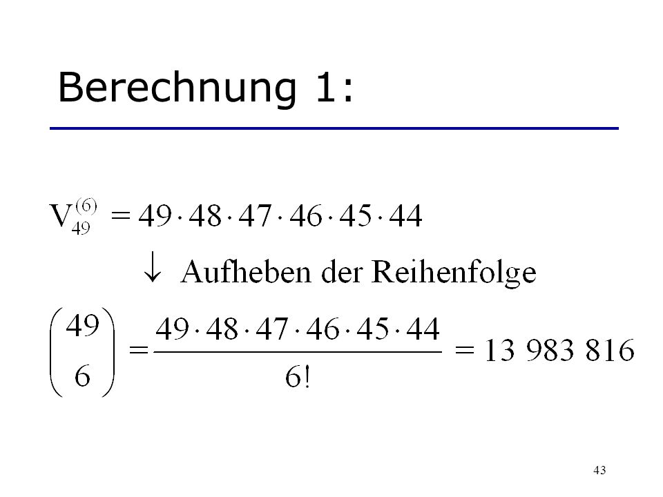 Berechnung 1: