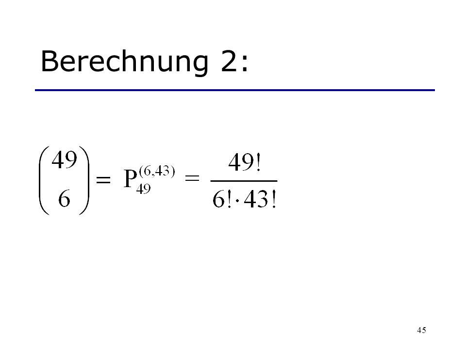 Berechnung 2: