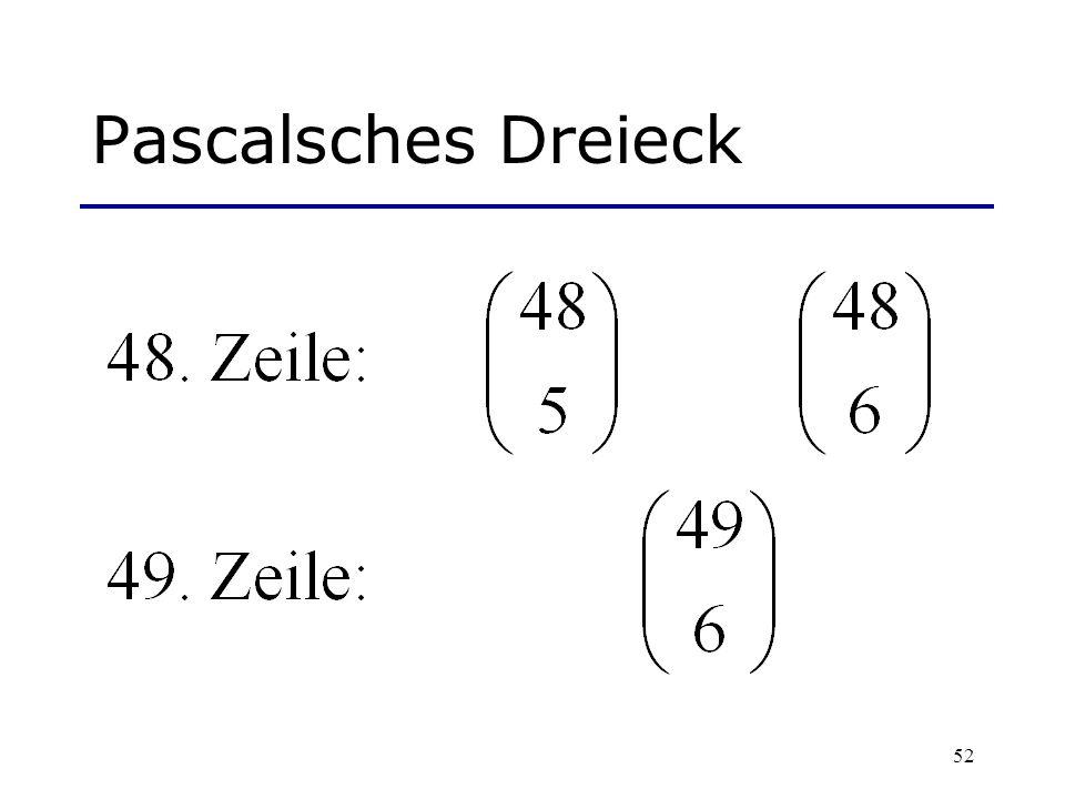 Pascalsches Dreieck