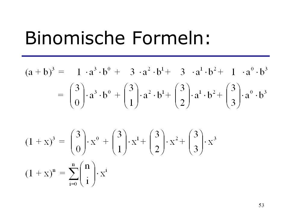 Binomische Formeln:
