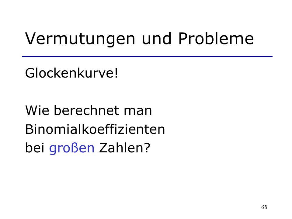 Vermutungen und Probleme