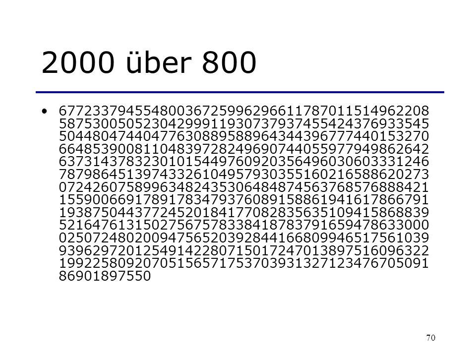 2000 über 800