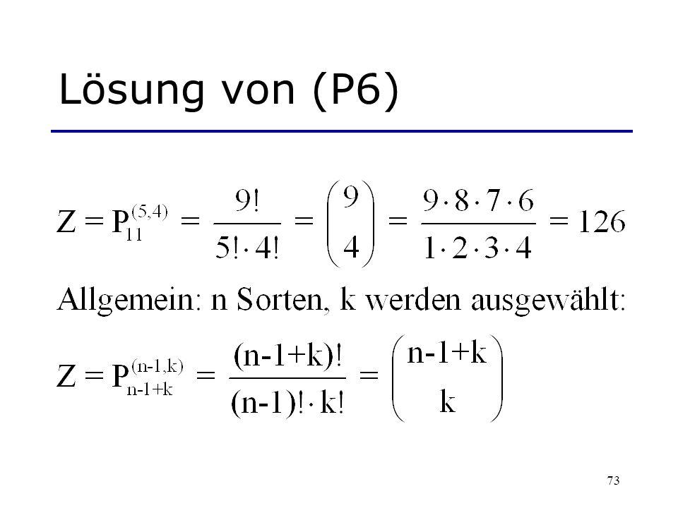 Lösung von (P6)