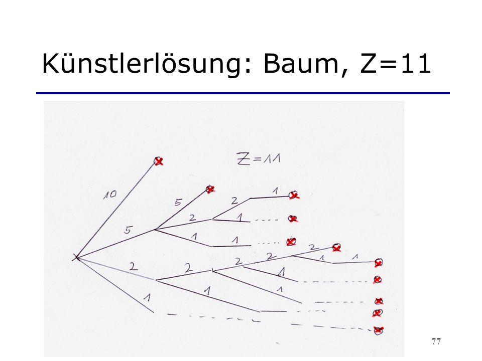 Künstlerlösung: Baum, Z=11
