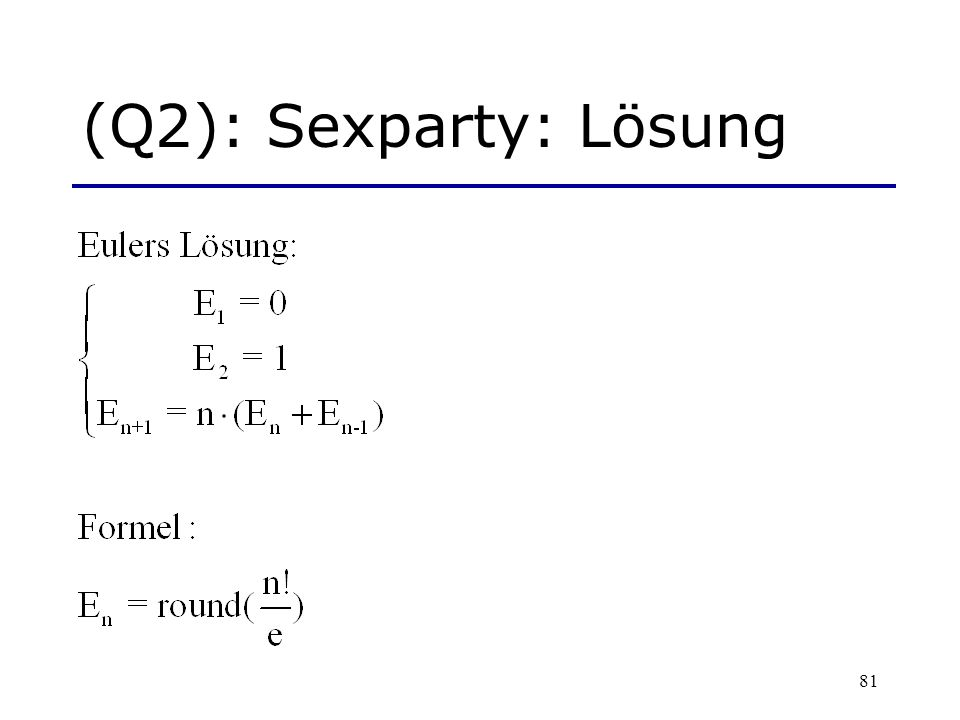 (Q2): Sexparty: Lösung