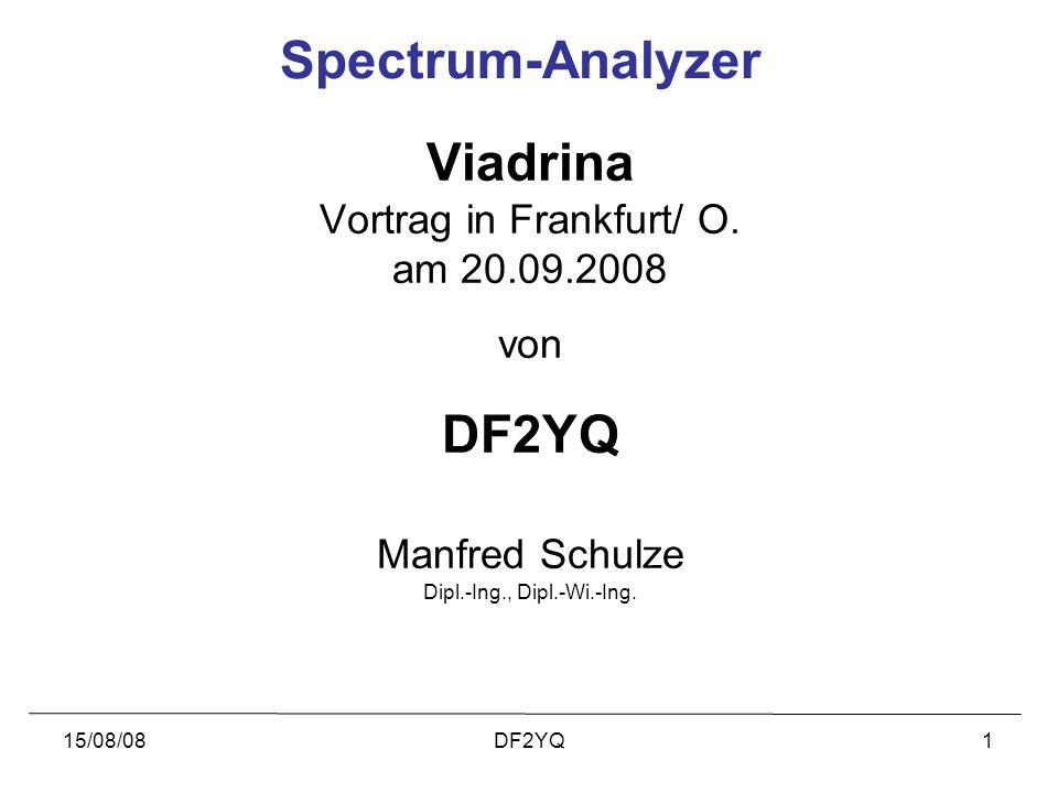 Vortrag in Frankfurt/ O.