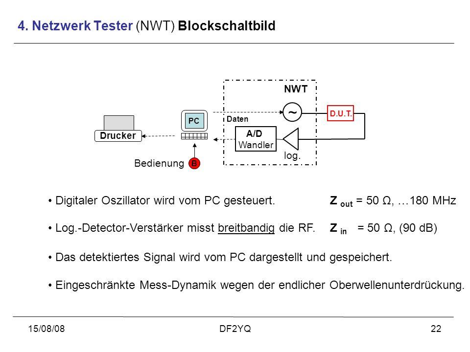 4. Netzwerk Tester (NWT) Blockschaltbild
