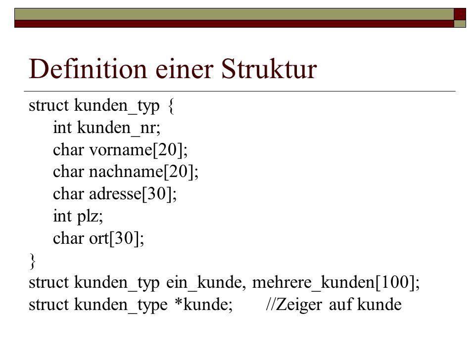 Definition einer Struktur