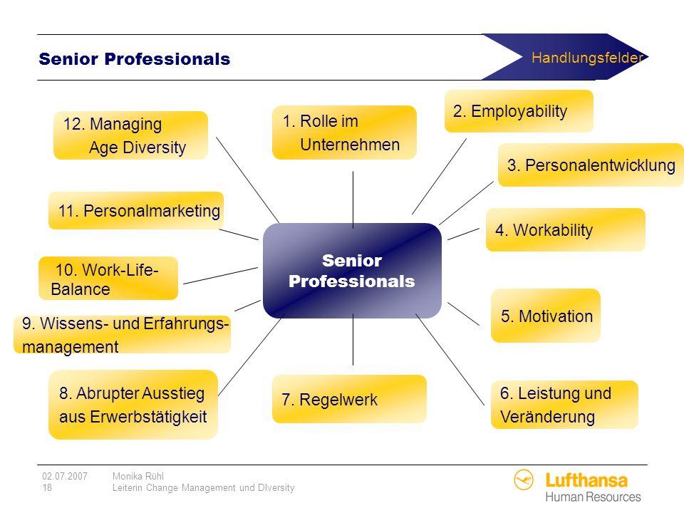 Handlungsfelder Senior Professionals Senior Professionals