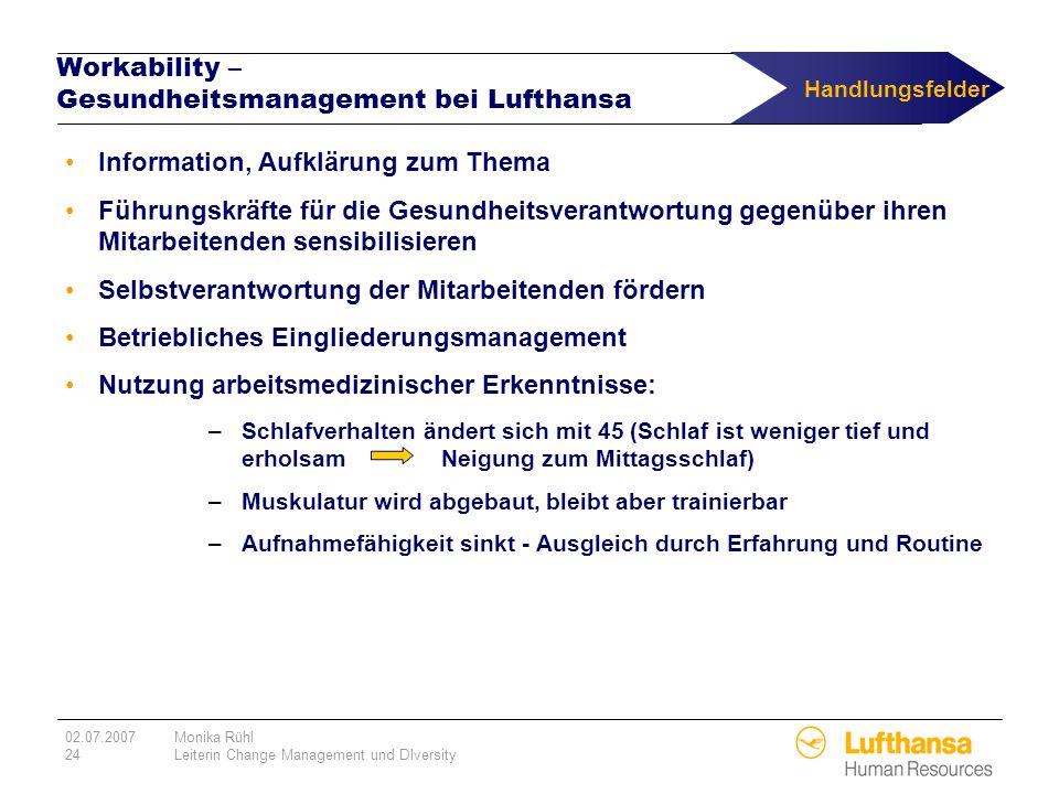 Workability – Gesundheitsmanagement bei Lufthansa