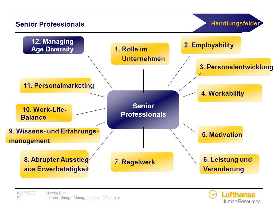 Handlungsfelder Senior Professionals