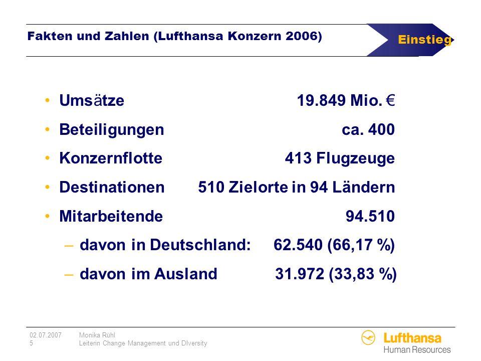 Fakten und Zahlen (Lufthansa Konzern 2006)