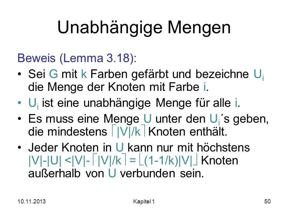 Unabhängige Mengen Beweis (Lemma 3.18):